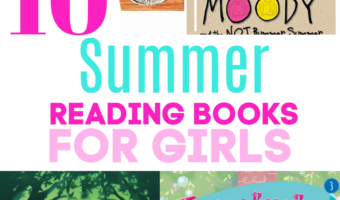 a collage of summer reading books for girls